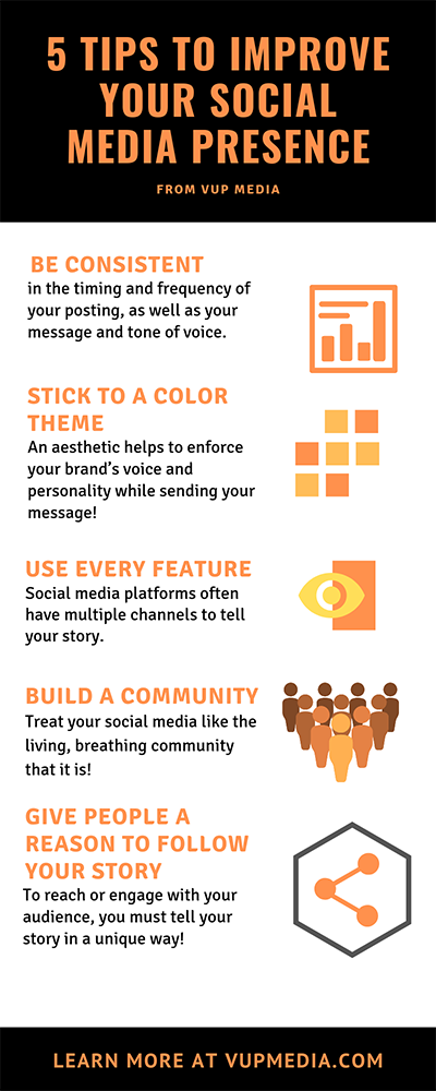 5 Tips to improve your social media presence