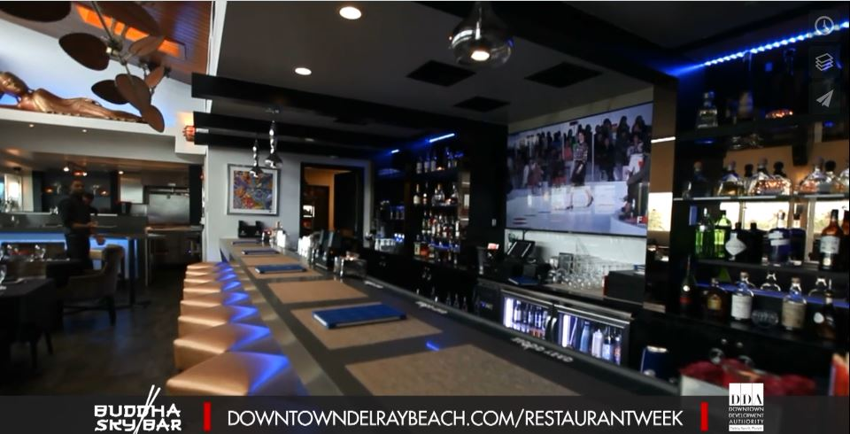 Buddha Sky Bar – Dine Out Downtown Delray Restaurant Week 2018