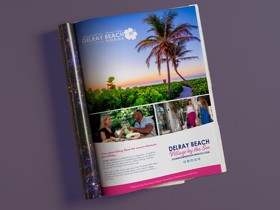 Downtown Delray Beach's Magazine Ad